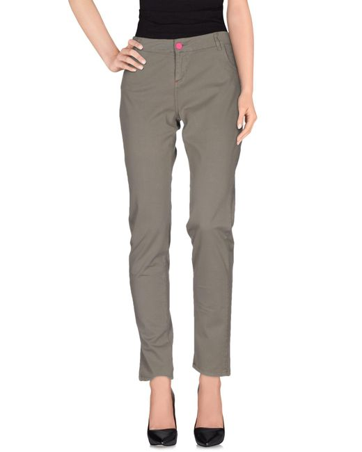 Scee By Twin-set - Gray Casual Trouser - Lyst