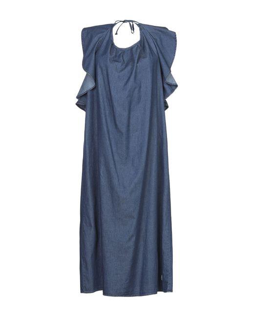 Roy Rogers Blue Knielanges Kleid