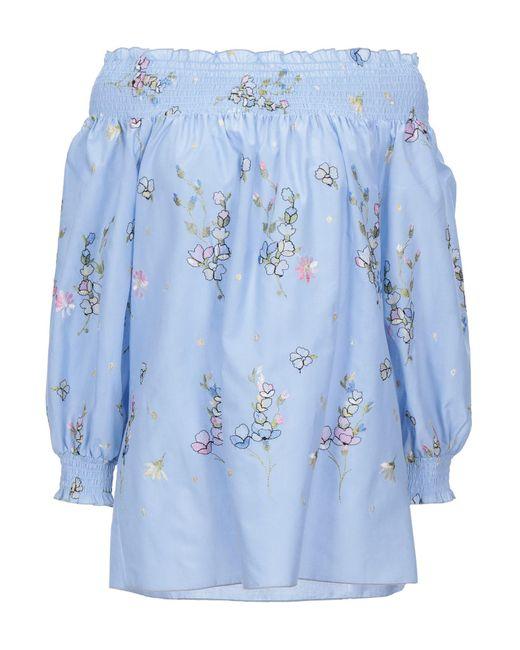 Blugirl Blumarine Blusa de mujer de color azul t3KnR