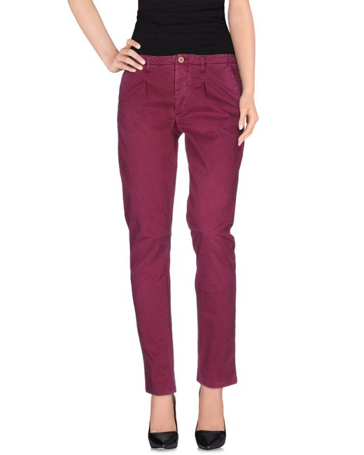 Manila Grace - Purple Casual Pants - Lyst