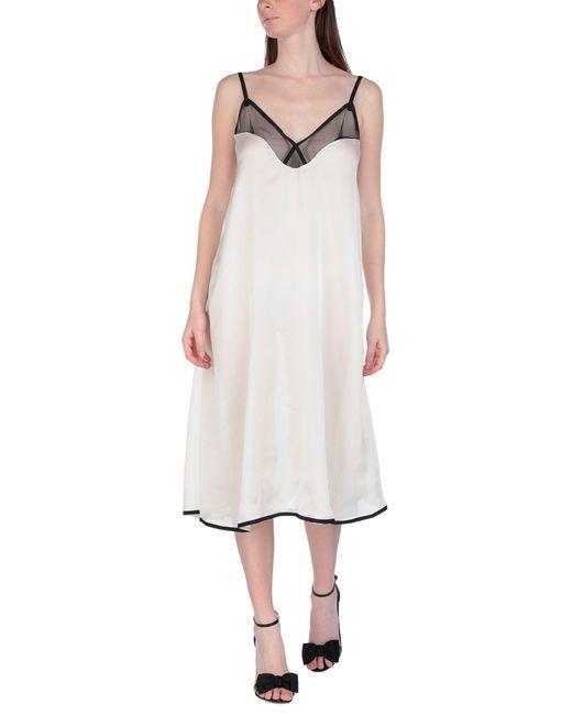 Sacai White Knielanges Kleid