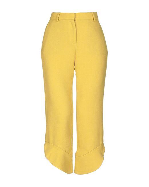 L'Autre Chose Yellow 3/4-length Trousers