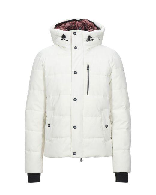 Takeshy Kurosawa White Synthetic Down Jacket for men