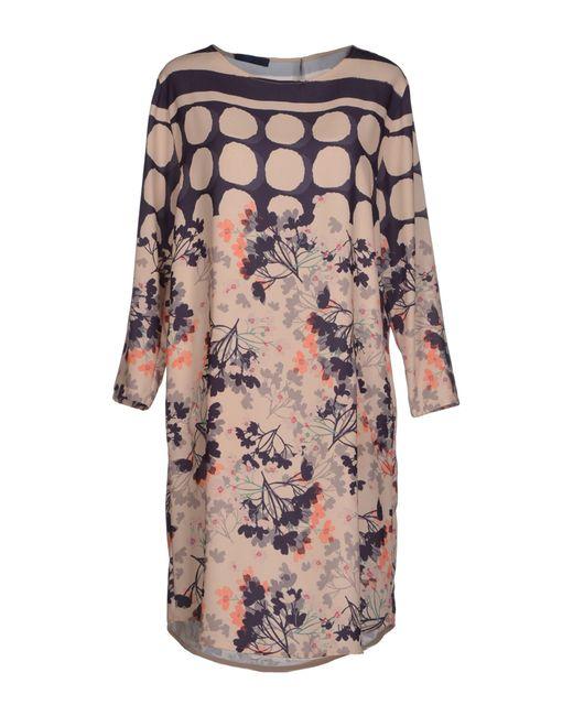 Blue Les Copains | Natural Knee-length Dress | Lyst