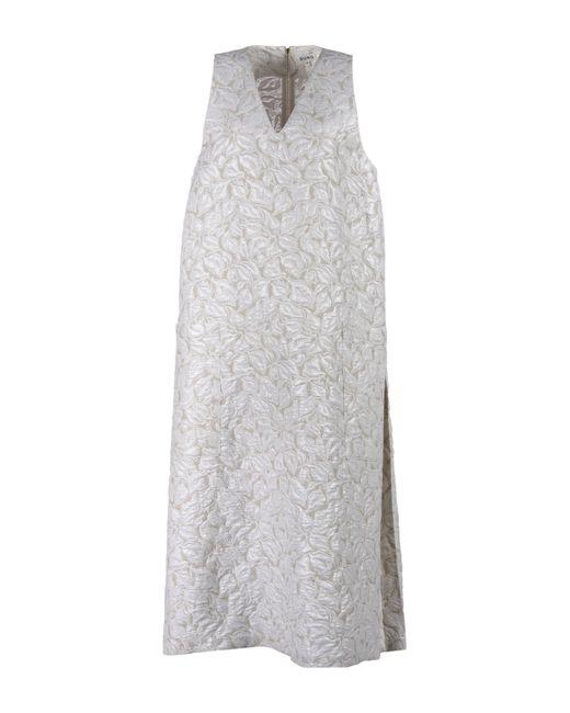 Suno | White 3/4 Length Dress | Lyst