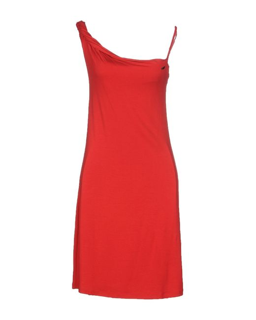 Met | Red Short Dress | Lyst