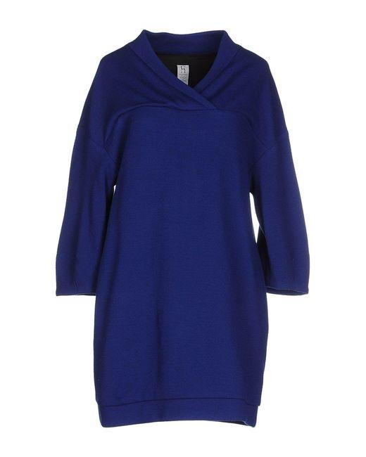Pinko   Blue Short Dress   Lyst
