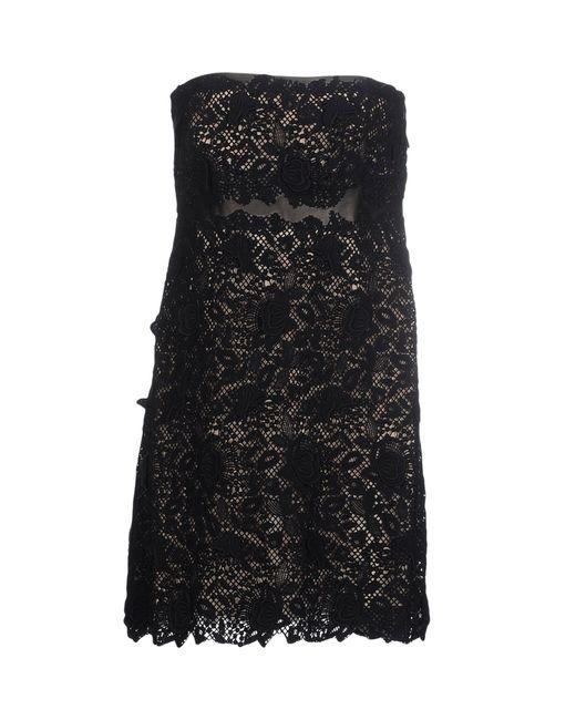 Valentino | Black Beaded Mesh Bustier Dress | Lyst