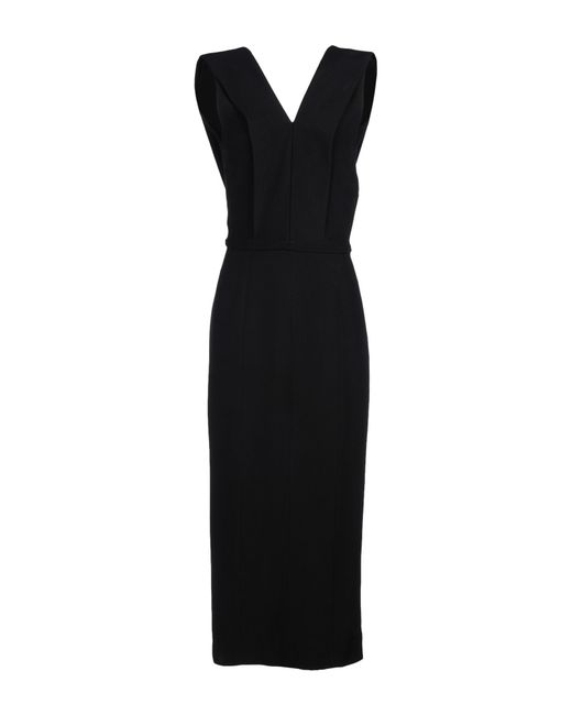 Haider Ackermann | Black 3/4 Length Dress | Lyst