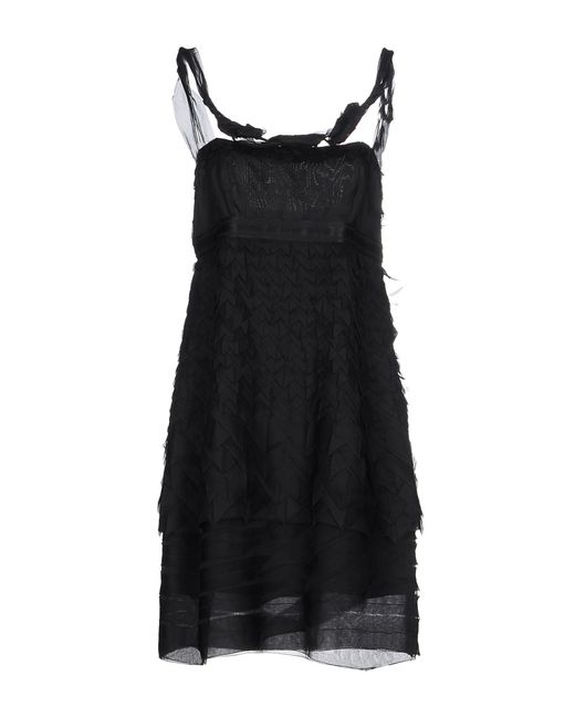 Prada | Black Short Dress | Lyst