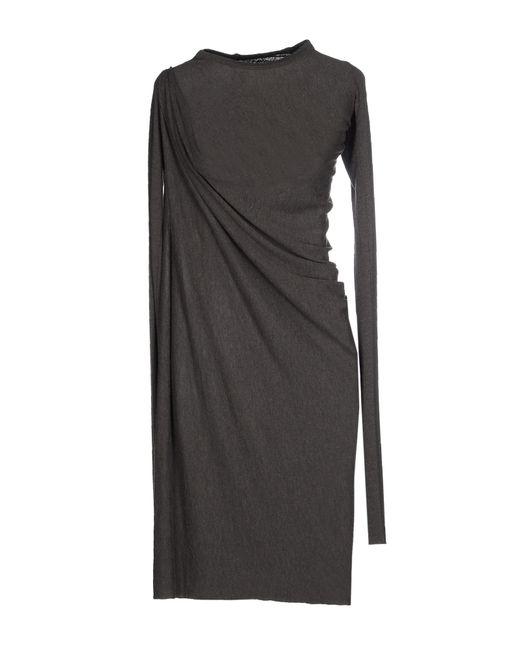 Rick Owens Lilies | Gray Short Dress | Lyst