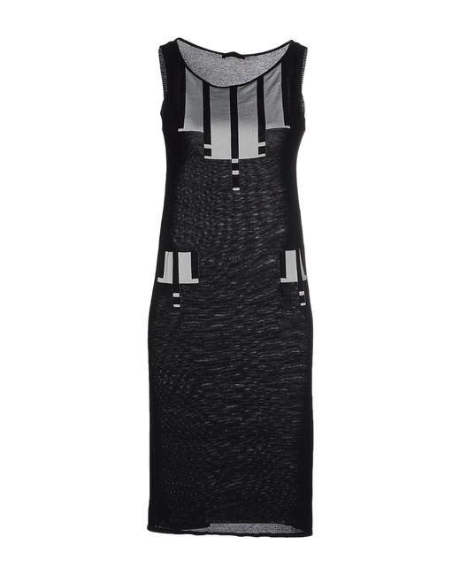 Karl Lagerfeld   Black Knit Sheath Dress   Lyst