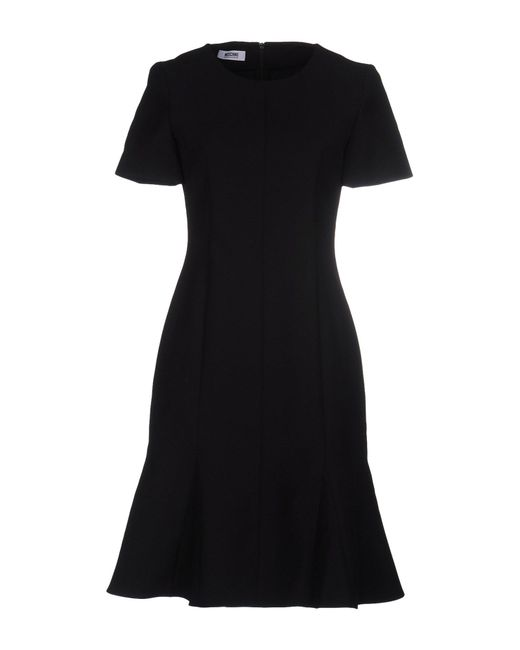 Boutique Moschino   Black Pearl-button A-line Dress   Lyst