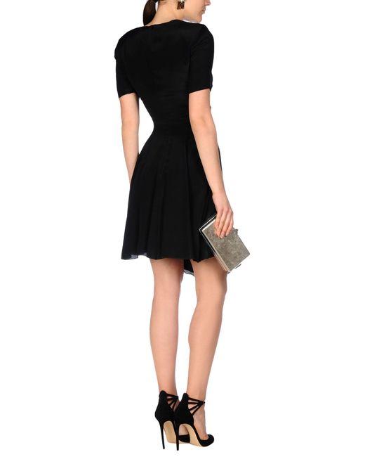versace jeans short dress in black lyst