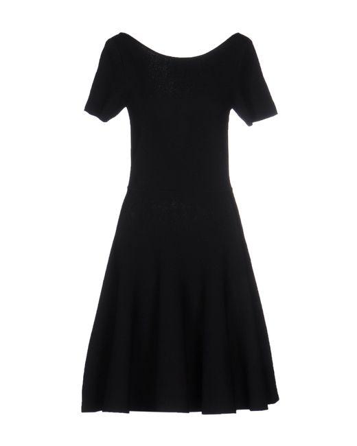 P.A.R.O.S.H. | Black Short Dress | Lyst