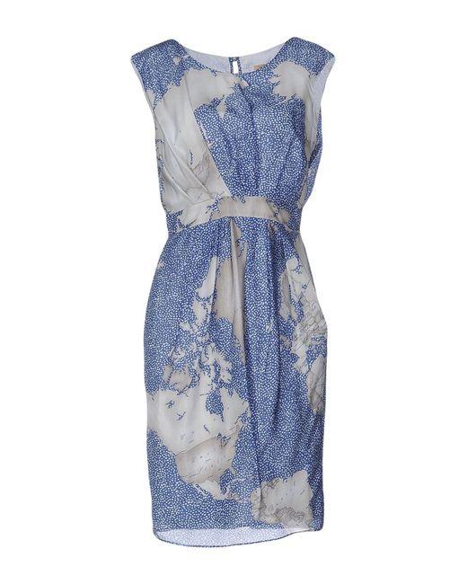 Alviero Martini 1A Classe   Blue Knee-length Dress   Lyst