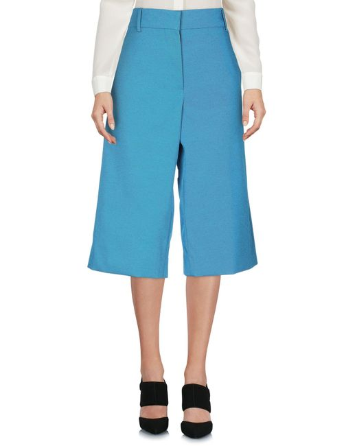 Marni Pantacourt femme de coloris bleu