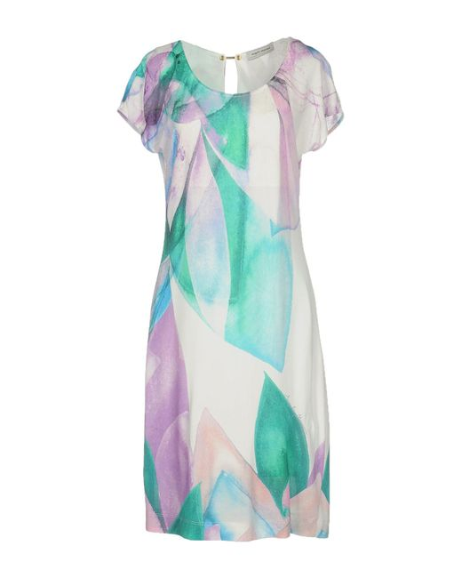 Angelo Marani | Purple Short Dress | Lyst