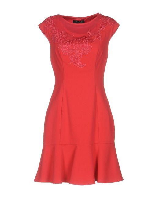 Guess | Red Short Dress | Lyst