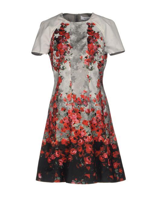 Blugirl Blumarine | Gray Short Dress | Lyst