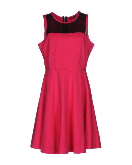 Guess | Pink Short Dress | Lyst