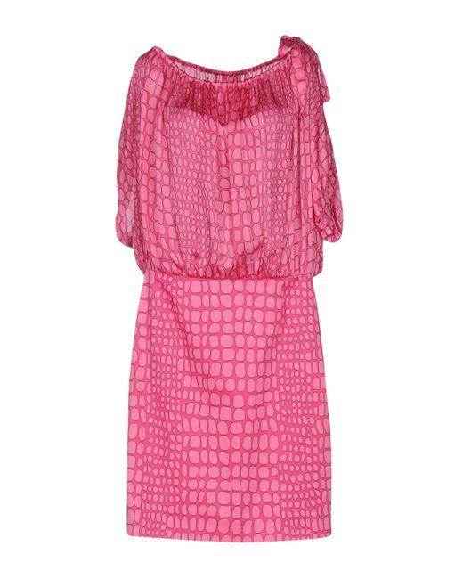 Boutique Moschino | Pink Short Dress | Lyst