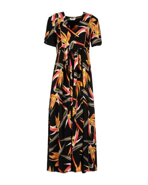Fendi   Black Bird Of Paradise-print Silk Midi Dress   Lyst