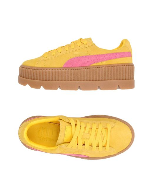 PUMA - Yellow Cleated Creeper Suede Trainers - Lyst