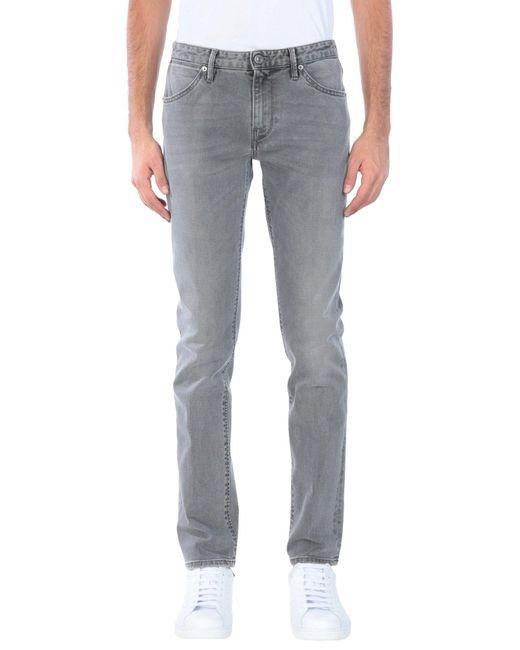 Pt05 Gray Denim Pants for men