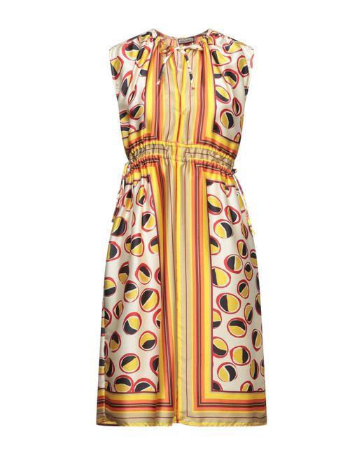 Vestito corto di Maliparmi in Yellow