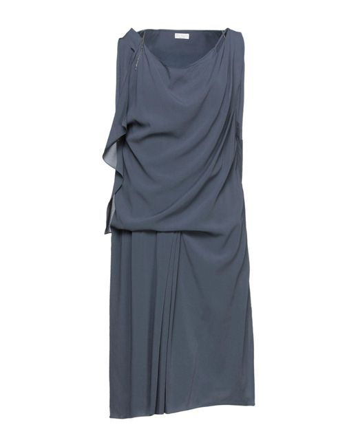 Brunello Cucinelli Gray Short Dress