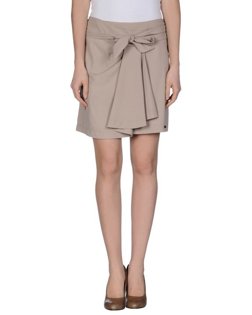 GAUDI | Natural Mini Skirt | Lyst
