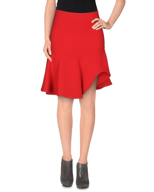 Space Style Concept   Red Knee Length Skirt   Lyst
