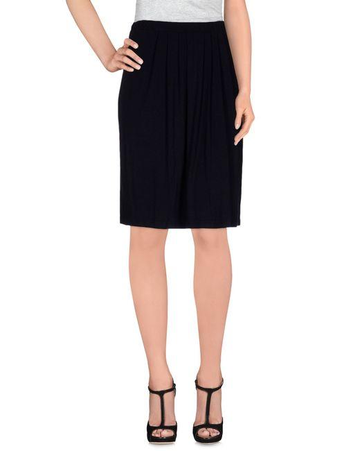 Almeria   Black Knee Length Skirt   Lyst