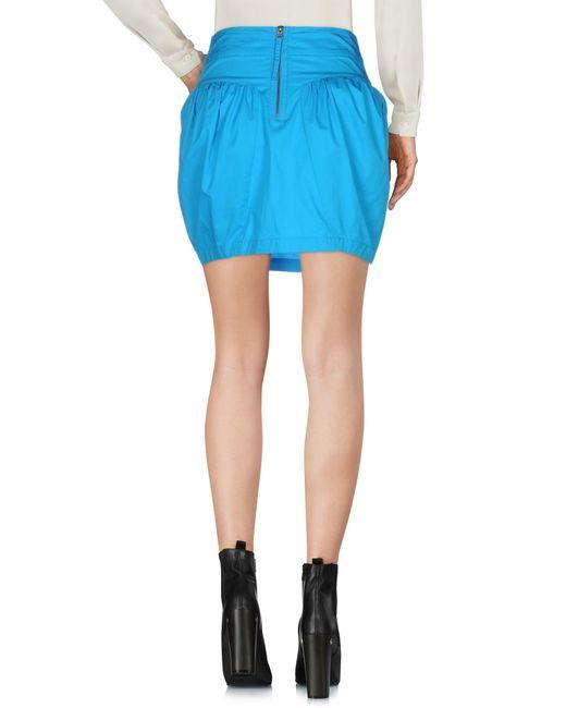 miss sixty mini skirt in blue lyst