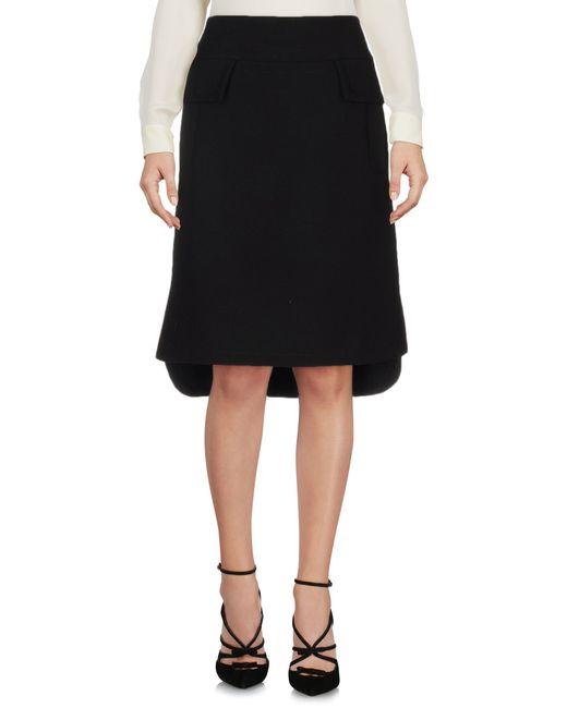 Marni | Black Knee Length Skirt | Lyst