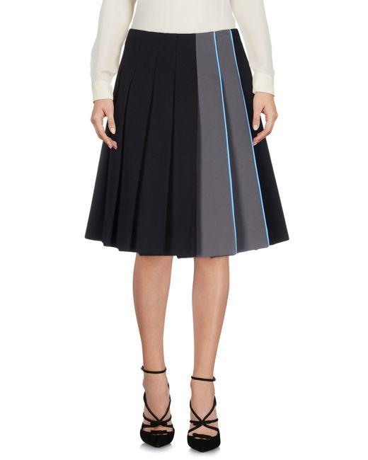 Prada | Green Knee Length Skirt | Lyst