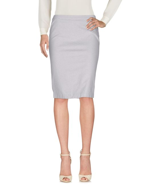 Armani Jeans | Gray Knee Length Skirt | Lyst