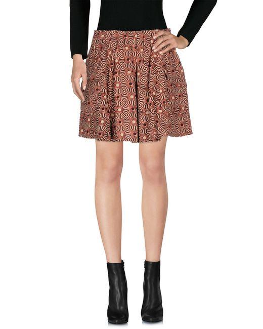 Free People | Red Mini Skirt | Lyst