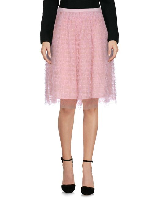 RED Valentino   Pink Knee Length Skirt   Lyst