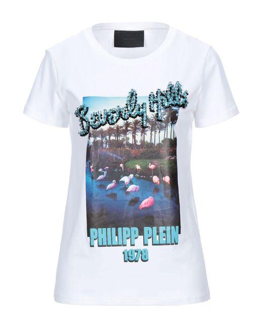 Philipp Plein Camiseta de mujer de color blanco HZkLr