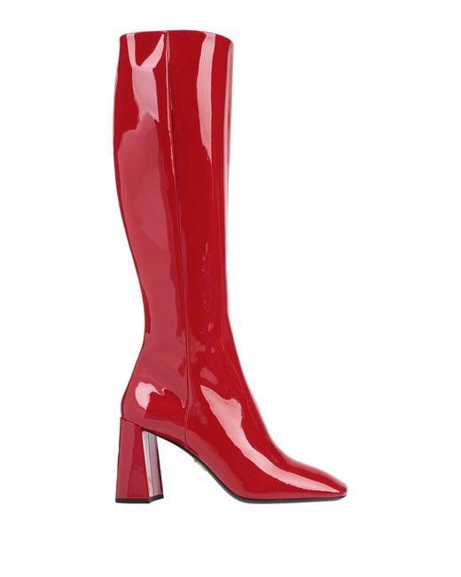 Prada Red Boots