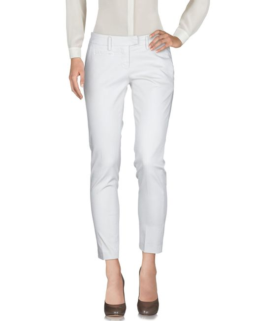 Dondup Pantalones de mujer de color blanco
