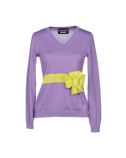 Boutique Moschino - Purple Jumper - Lyst