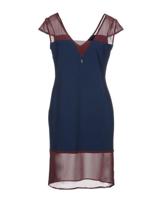 Trussardi Blue Kurzes Kleid