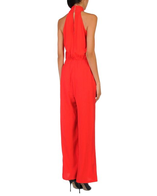 Traffic People Red Jumpsuit