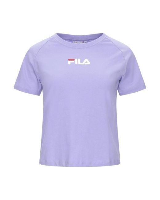 Camiseta Fila de color Purple