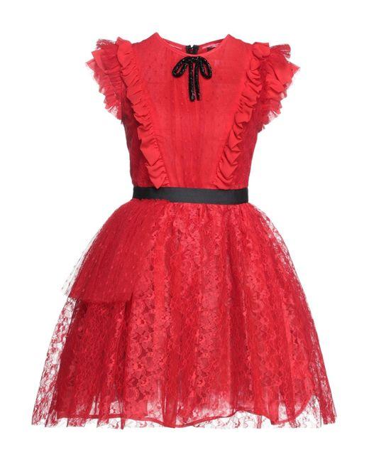 MSGM Red Short Dress