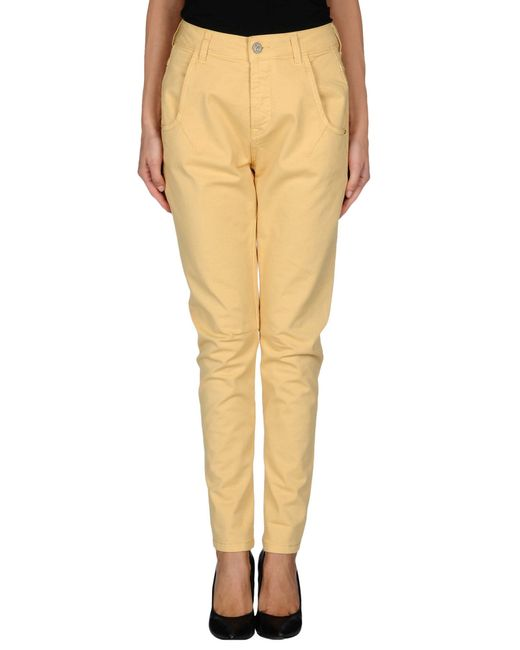 Manila Grace | Yellow Casual Trouser | Lyst