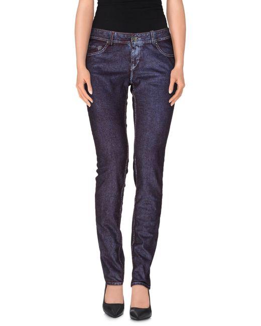 GAUDI | Purple Casual Trouser | Lyst